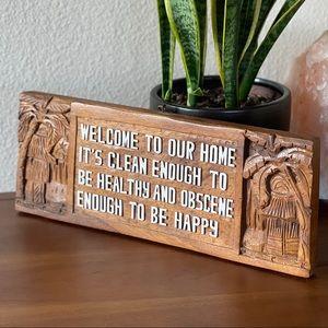 Wood Carved Hanging Sign